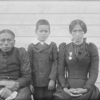 Mother-in-Law, Wife and Son of John Dennis, 1899.jpg