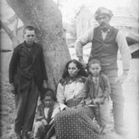 Group of Five near Tree 1900.jpg